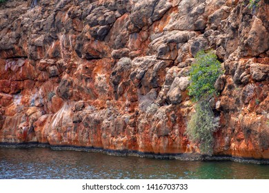 Red Cliffs at Yardie Creek at Cape Range National Park close to Exmouth Australia