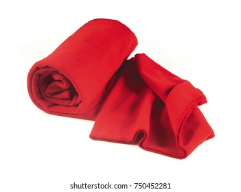 Red cloth isolated on white