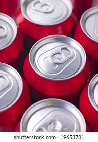 Red Cola Cans