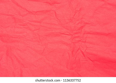red color creased tissue paper background texture