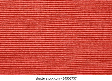 Red color, deep relief cotton fabric