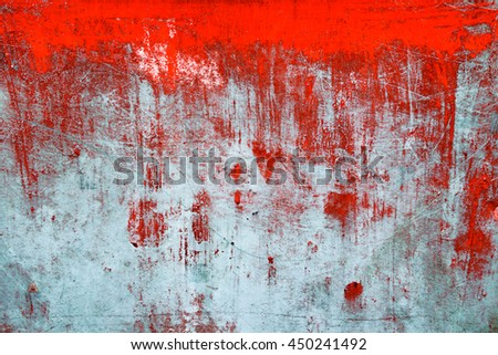 Red color fade from old aluminum metal and Rust for background  color effect & Red Color Fade Old Aluminum Metal Stock Photo (Edit Now) 450241492 ...