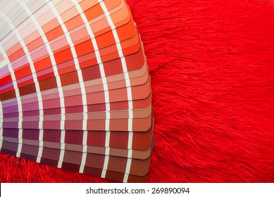 red color palette guide for printing industry isolated