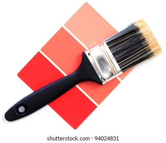 red color swatch with paintbrush
