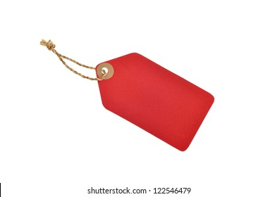 red color tag with rope