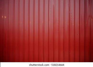 The red color zinc background in frame position.