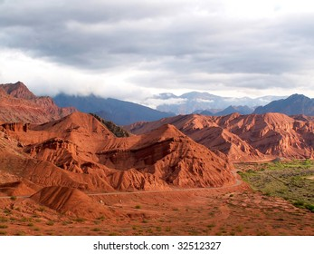 Red colored mountains near Cafayate, Argentina