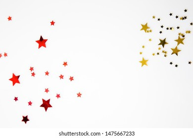 red colour and gold colour stars is looking very beautiful