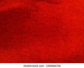 Red colour velvet material background