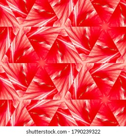 Red coloured abstract triangular image