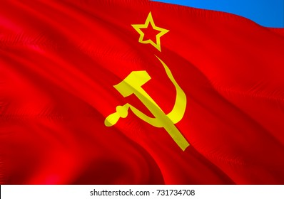 red Communism flag. Communist flag. Russian communist flag. Chinese  and Vietnam communist flags. Communism USSR nation flag. Soviet Union flags colors. american anarcho concept