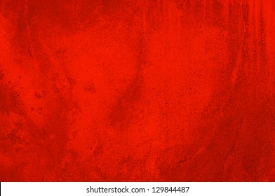 Red concrete wall - abstract background