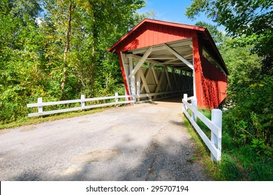 Red Covered Bridge at Cuyahoga Valley National Park