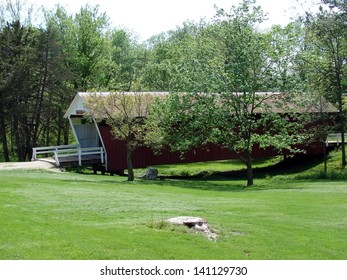 red covered bridge historic