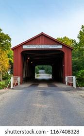 Red Covered Bridge - An Old covered bridge near Princeton Illinois.