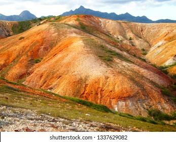Red crests through Macanao mountains, Margarita Island, La Restinga National Park, Venezuela