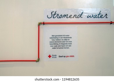 The Red Cross Organization On The VT Wonen & Design Exhibition Making People Aware Of The Importance Of Clean Water At Amsterdam The Netherlands 2018
