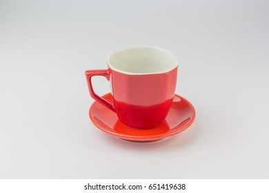 Red cup clipping path  Isolated background