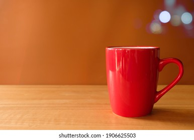 Red cup coffee day off for lifestyle background