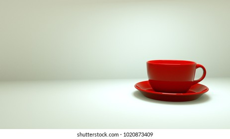 red Cup of coffee, refreshing drink