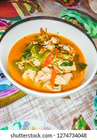 red curry with clown featheback fishball.