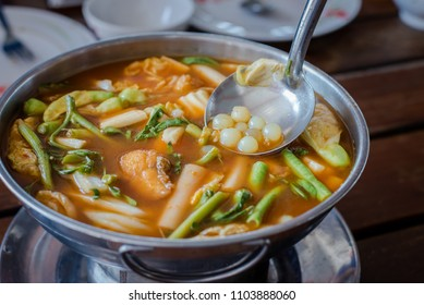 red curry Giant catfish eggs is popular Thai recipe in usually eat with white rice.