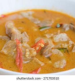 Red curry thai food panang