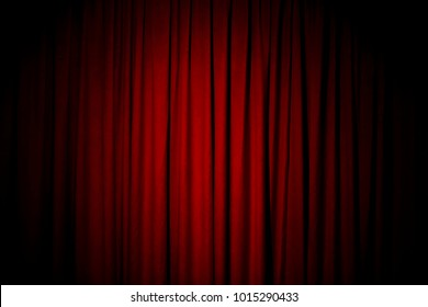 Red Curtain Background