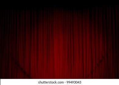 Red curtain at the theatre