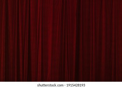 Red curtain in theatre background