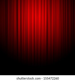 Red curtains on theater or cinema stage
