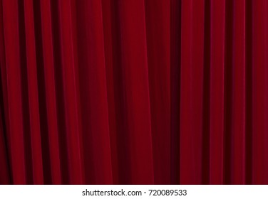 Red curtains at a theatre, high resolution background
