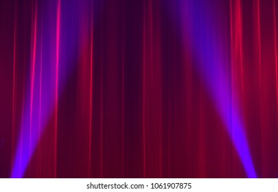Red curtain-Stage Lights