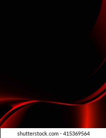 red curve and black concept for abstract background