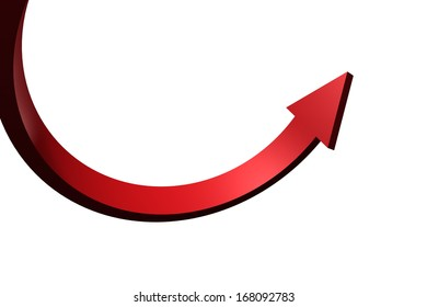 Red curved arrow