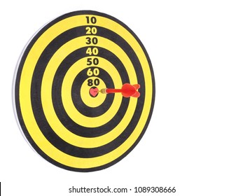 Heart bullseye images stock photos vectors shutterstock a red dart arrow hitting on center at bullseye of dartboard which is heart shaped and altavistaventures Images
