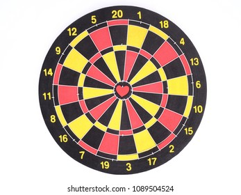 Heart bullseye images stock photos vectors shutterstock a red dart arrow hitting on center at bullseye of dartboard which is heart shaped thecheapjerseys Choice Image