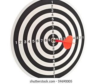 Red dart in center of target