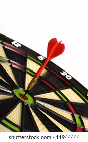 red dart hitting a target board, concept for business success and marketing