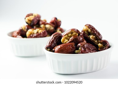 Red dates or jujube stuffed with walnut ready to serve