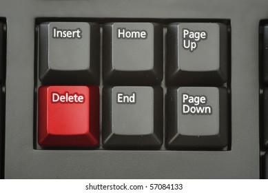 Red delete button