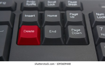 red delete keyboard button