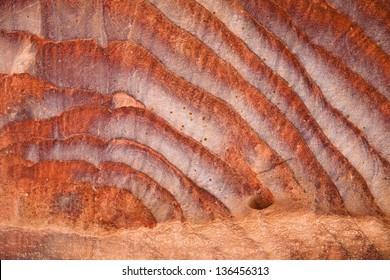 Red desert sandtone abstract
