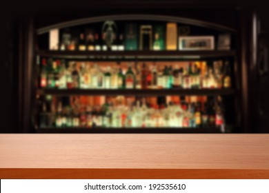 red desk and bar