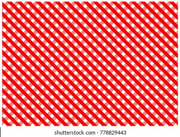 Red diagonal stripes. Checkered texture