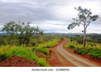 Red dirt road Papua New Guinea