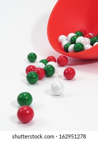 Red dish, holiday candy