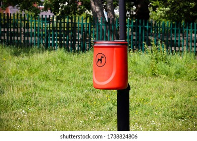 Red Dog Poo Plastic Bin