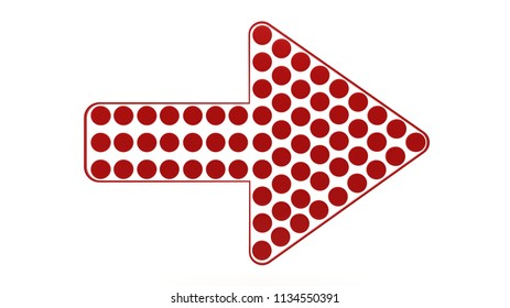 Red dotted arrow