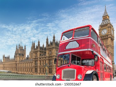 Red double-decker for Parlament, London